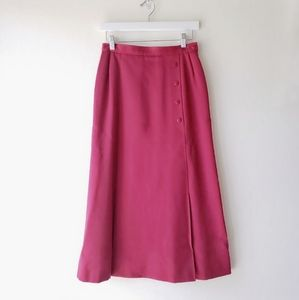 70's Red Wool A-line Skirt